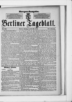 Berliner Tageblatt und Handels-Zeitung vom 25.05.1886