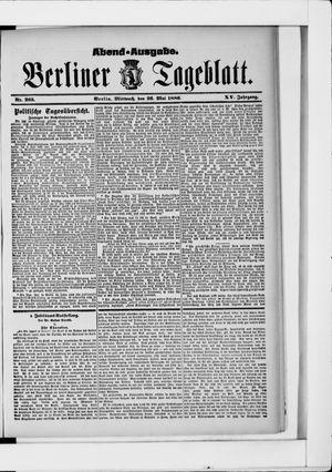 Berliner Tageblatt und Handels-Zeitung vom 26.05.1886