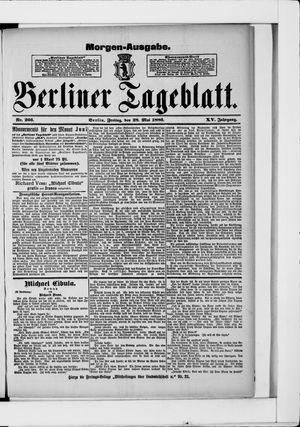 Berliner Tageblatt und Handels-Zeitung vom 28.05.1886