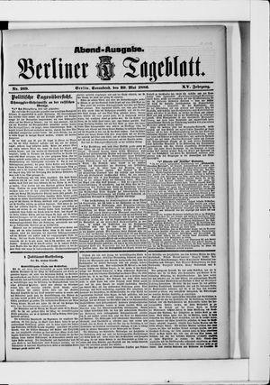Berliner Tageblatt und Handels-Zeitung vom 29.05.1886