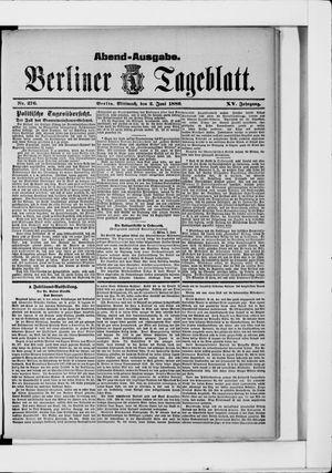 Berliner Tageblatt und Handels-Zeitung vom 02.06.1886