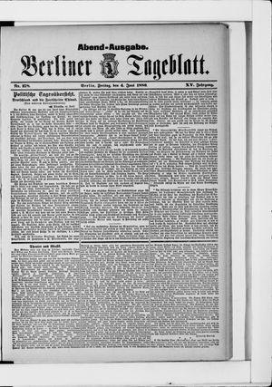 Berliner Tageblatt und Handels-Zeitung vom 04.06.1886