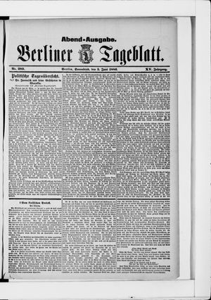 Berliner Tageblatt und Handels-Zeitung vom 05.06.1886