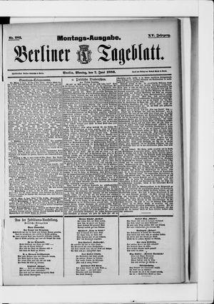 Berliner Tageblatt und Handels-Zeitung vom 07.06.1886