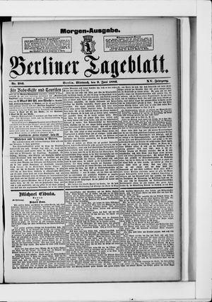 Berliner Tageblatt und Handels-Zeitung vom 09.06.1886