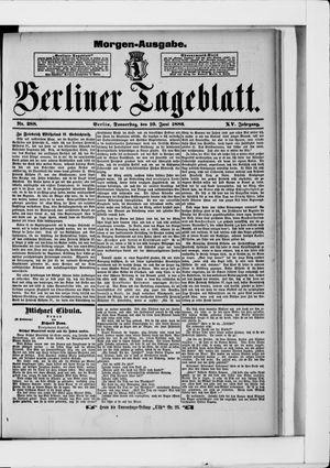 Berliner Tageblatt und Handels-Zeitung vom 10.06.1886