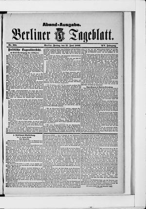 Berliner Tageblatt und Handels-Zeitung vom 11.06.1886