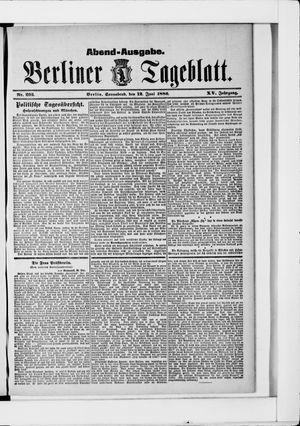 Berliner Tageblatt und Handels-Zeitung vom 12.06.1886