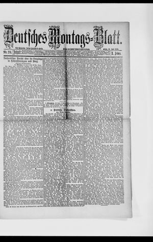 Berliner Tageblatt und Handels-Zeitung vom 14.06.1886