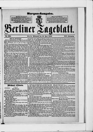 Berliner Tageblatt und Handels-Zeitung vom 16.06.1886