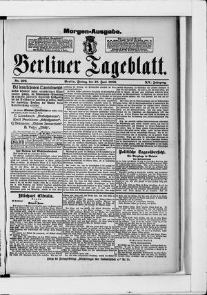 Berliner Tageblatt und Handels-Zeitung vom 18.06.1886