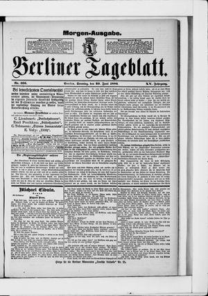 Berliner Tageblatt und Handels-Zeitung vom 20.06.1886