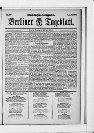 Berliner Tageblatt und Handels-Zeitung vom 21.06.1886