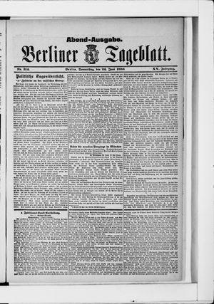 Berliner Tageblatt und Handels-Zeitung vom 24.06.1886
