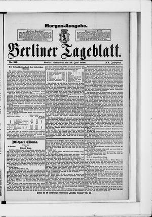 Berliner Tageblatt und Handels-Zeitung vom 26.06.1886