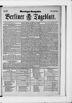 Berliner Tageblatt und Handels-Zeitung vom 28.06.1886