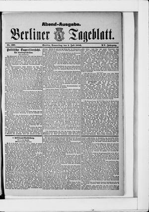 Berliner Tageblatt und Handels-Zeitung vom 01.07.1886