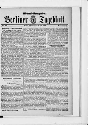 Berliner Tageblatt und Handels-Zeitung vom 07.07.1886