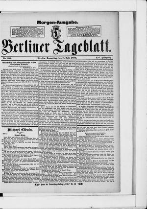 Berliner Tageblatt und Handels-Zeitung vom 08.07.1886
