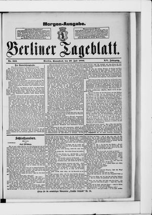 Berliner Tageblatt und Handels-Zeitung vom 10.07.1886