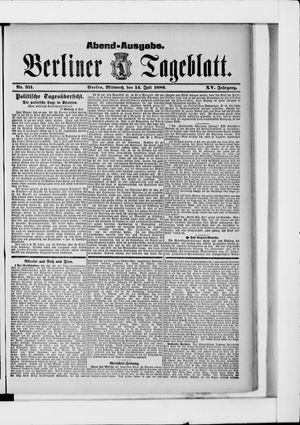 Berliner Tageblatt und Handels-Zeitung vom 14.07.1886