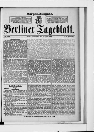 Berliner Tageblatt und Handels-Zeitung vom 15.07.1886