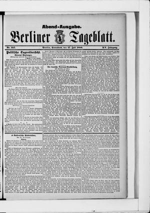 Berliner Tageblatt und Handels-Zeitung vom 17.07.1886