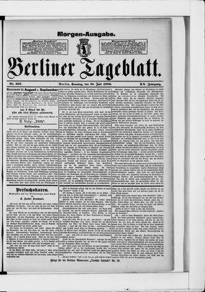 Berliner Tageblatt und Handels-Zeitung vom 18.07.1886