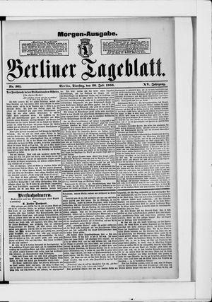 Berliner Tageblatt und Handels-Zeitung vom 20.07.1886