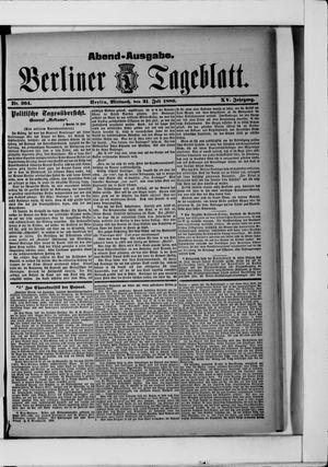 Berliner Tageblatt und Handels-Zeitung vom 21.07.1886