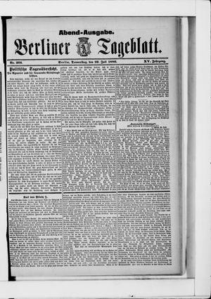 Berliner Tageblatt und Handels-Zeitung vom 22.07.1886