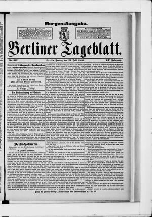 Berliner Tageblatt und Handels-Zeitung vom 23.07.1886