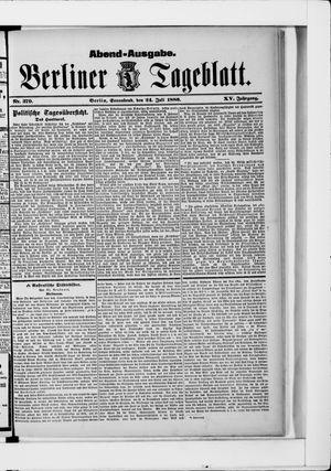 Berliner Tageblatt und Handels-Zeitung vom 24.07.1886