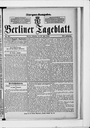 Berliner Tageblatt und Handels-Zeitung vom 25.07.1886