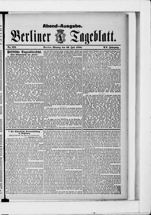 Berliner Tageblatt und Handels-Zeitung vom 26.07.1886