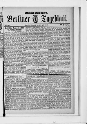 Berliner Tageblatt und Handels-Zeitung vom 28.07.1886