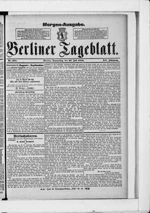 Berliner Tageblatt und Handels-Zeitung vom 29.07.1886