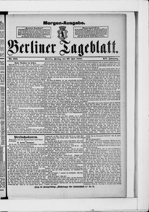 Berliner Tageblatt und Handels-Zeitung on Jul 30, 1886