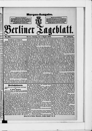 Berliner Tageblatt und Handels-Zeitung vom 01.08.1886