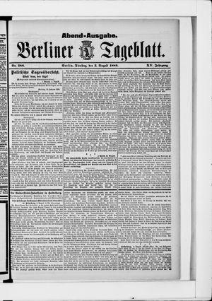 Berliner Tageblatt und Handels-Zeitung vom 03.08.1886