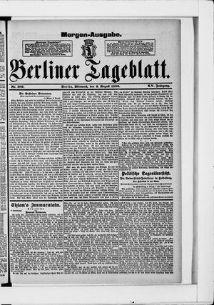 Berliner Tageblatt und Handels-Zeitung vom 04.08.1886