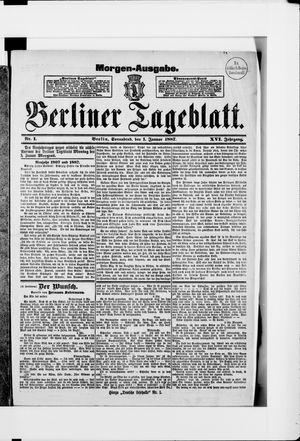 Berliner Tageblatt und Handels-Zeitung vom 01.01.1887