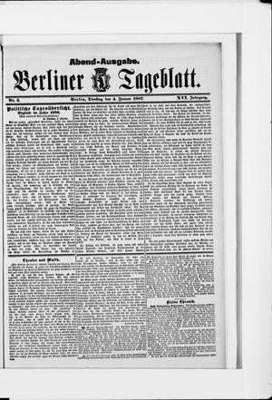 Berliner Tageblatt und Handels-Zeitung vom 04.01.1887