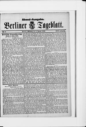 Berliner Tageblatt und Handels-Zeitung on Jan 5, 1887