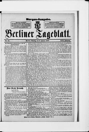 Berliner Tageblatt und Handels-Zeitung vom 09.01.1887