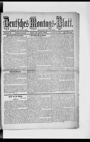 Berliner Tageblatt und Handels-Zeitung vom 10.01.1887