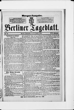 Berliner Tageblatt und Handels-Zeitung on Jan 12, 1887