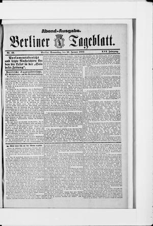 Berliner Tageblatt und Handels-Zeitung vom 13.01.1887