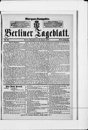 Berliner Tageblatt und Handels-Zeitung vom 15.01.1887