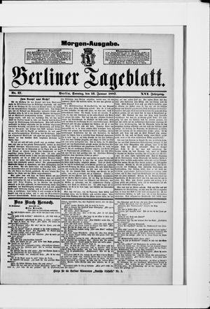 Berliner Tageblatt und Handels-Zeitung on Jan 16, 1887